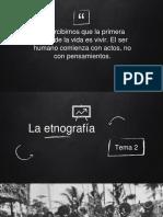 Tema  - La etnografía