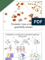 Postanak i Rana Evolucija Genetickih Sistema