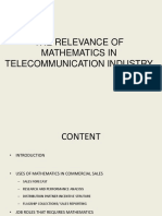 Relevance of Mathematics in Telecommunication Industry