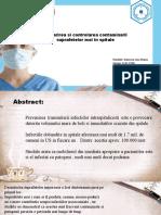 Urmarirea si controlarea contaminarii suprafetelor moi in spitale