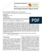 Factors Affecting Technological Growth in Nigeria and the Way Forward.