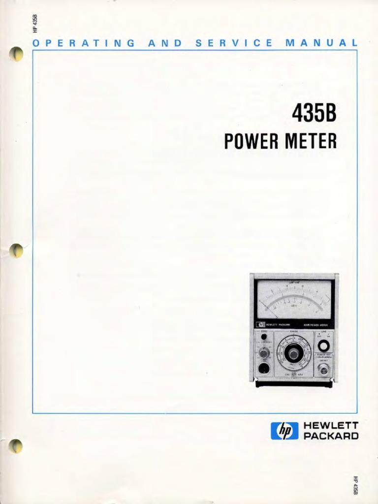 Hp 435b 00435 90040 Power Meter Sm Microform Fuse Electrical 1kw Rmsmosfetamplifier Service Manual Free Download Schematics