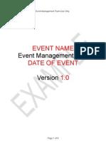 Template Event Management Plan V2