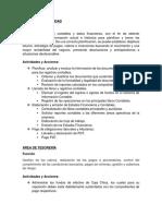 Funciones, Actividades y Acciones (Contabilidad y Finanzas)