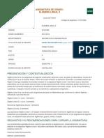 Aljebralineal II Obligatorias UNED