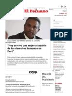"""""""Hoy Se Vive Una Mejor Situación de Los Derechos Humanos en Perú"""""""