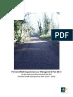 Parkland Walk Supplementary Man Plan 2015 Final