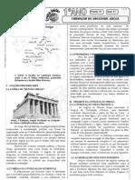 História - Pré-Vestibular Impacto - Grécia - Formação da Sociedade Grega