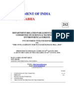 Parliamentary Report on Nuclear Liability Bill (2010)