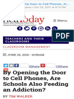 by opening the door to cell phones are schools also feeding an addiction