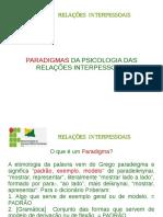 Aula 2 -- Paradigmas Das Relações Interpessoais