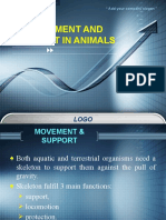 Movement and Support in Animals