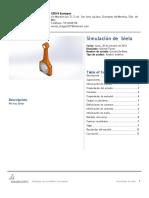 Estudio de Biela en SolidWorks