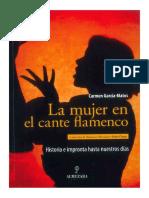 La Mujer en El Cante Flamenco-carmen Garcia-matos