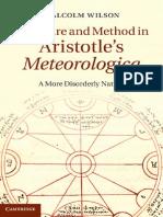 Wilson, M. - Structure and Method in Aristotle's Meteorologica (2013)