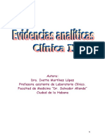 Evidencias Analíticas. Clinica II