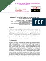 EXPERIMENTAL INVESTIGATION OF SOLAR AIR HEATER USING POROUS MEDIUM.pdf