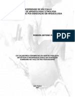 RODRIGUES, R. Os Caçadores Ceramistas Do Sertão Paulista