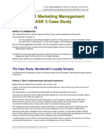MKG701 Marketing Management  TASK 3 Case Study