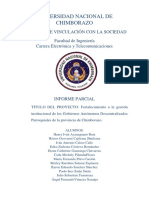 Fortalecimiento a La Gestión Institucional de Los Gobiernos Autónomos Descentralizados Parroquiales de La Provincia de Chimborazo.
