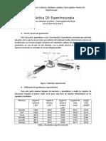 Práctica 10 Espectroscopia MIO