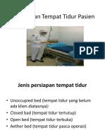 Menyiapkan Tempat Tidur Pasien