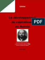Le Développement Du Capitalisme en Russie