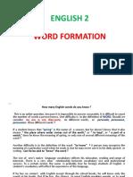 word formation (English Language)
