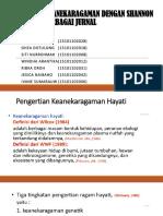 PENGUKURAN KEANEKARAGAMAN DENGAN SHANNON WIENER dari BERBAGAI JURNAL.pptx