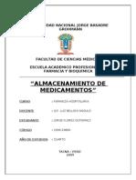 ALMACENAMIENTO DE MEDICAMENTOS