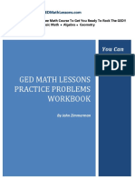 GED Math Lessons Practice Problems Workbook SAMPLE