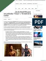 La Transformación de Brad Pitt Para Sus Películas _Troya_ y _El Club de La Lucha_ - Estendencia Sport