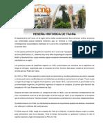 Reseña Histórica de Tacna