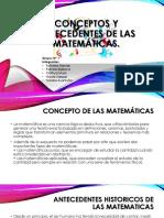 Conceptos y Antecedentes de Las Matemáticas
