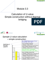 Calculation of U Value Simple Construction