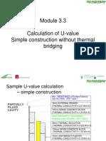 Calculation of U Value Simple Construction