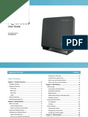 Sagemcom F@st 5260cv Manual pdf | Wi Fi | Usb