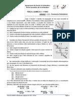 12ª Ficha de Trabalho - Fenómenos Ondulatórios