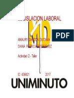 Taller 2- Legislacion Laboral