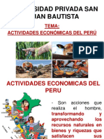 Actividades Economicas en El Peru