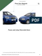 Fuse Box Chevrolet Aveo