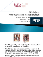 ACL Injury Nonoperative Rehab