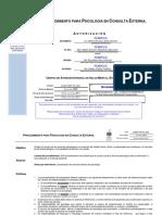 Procedimiento Para Psicologia en Consulta Externa