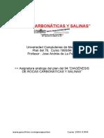 13 Rocas Carbonáticas Salinas