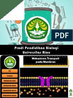 Pertemuan 1 PPT-Mekanisme Transport Pada Membran IFAA