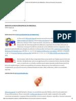 Bases de La Educación Especial en Venezuela