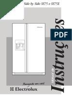 Manual Geladeira Side by Side Eletrolux SS75X