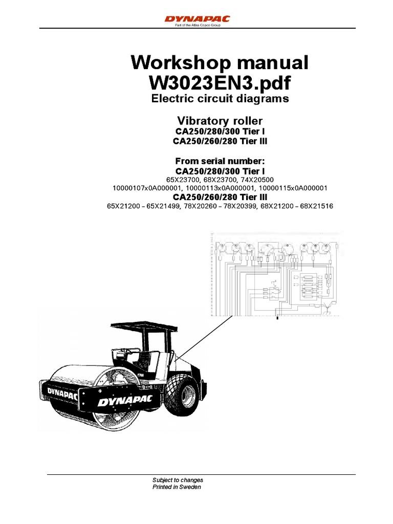 dynapac ca250 manual electrico pdf cable battery electricity rh scribd com dynapac cc142 wiring diagram dynapac cc142 wiring diagram