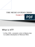 The Mexican Peso Crisis