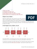 4 Bit Ripple Carry Adder VHDL Code
